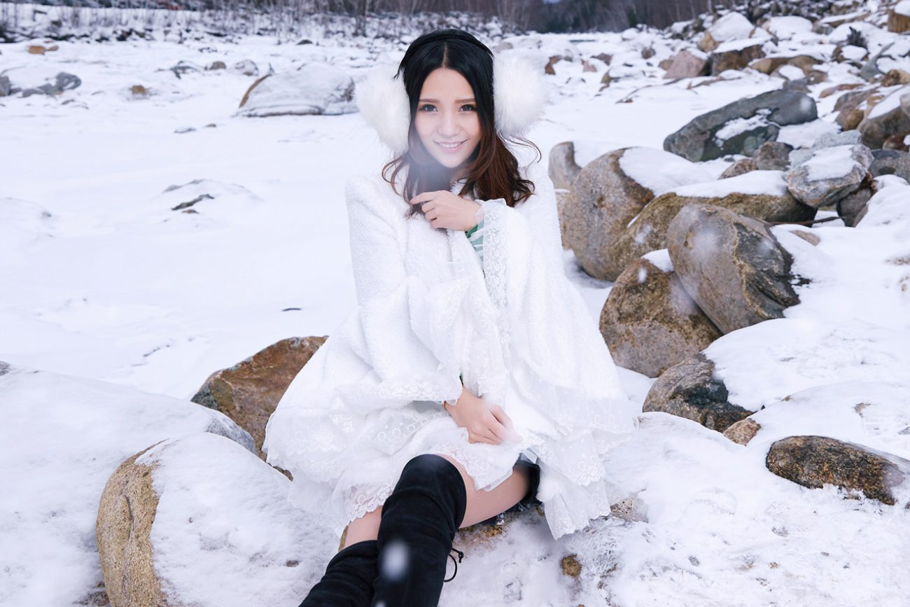#Portrait#modeling#photography#snowshoot